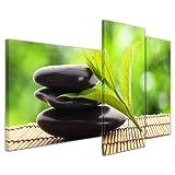 Bilderdepot24 Bild auf Leinwand | Zen Steine V in 130x80 cm