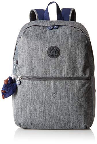 Kipling EMERY School Backpack, 42 cm, 22 liters, Grey (Ash Denim Bl)