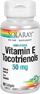 Solaray Vitamin E Tocotrienols 50mg | Healthy Cardiovascular & Brain Function Support | Soy Free | 50ct