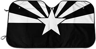 Velorest Black Arizona Flag Car Sunshade Windshield Sun Shade Universal for Cars SUV Truck Blocks UV Radiation Protects In...