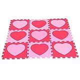 Rompecabezas Estera de Jugar Suelo Juguetes Educativos Decoración de Habitación - Amor rosa rojo, 3