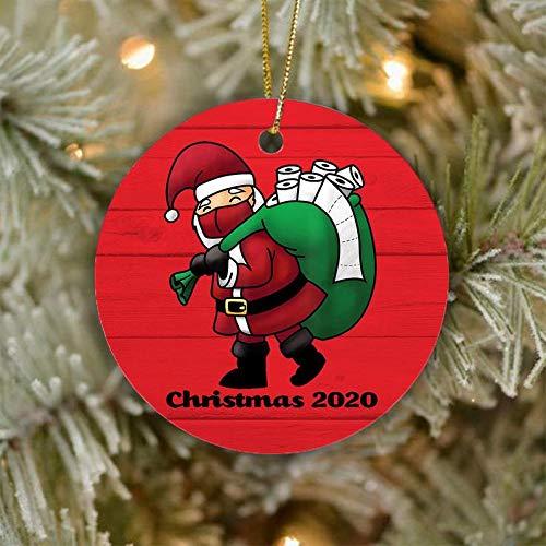 None-brands Quarantäne Ornament Weihnachtsmann Gesicht Abdeckung Ornament Toilettenpapier Ornament 2020 Weihnachten Pandemie Ornament Quarantäne Weihnachten Ornament