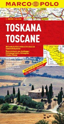 Marco Polo Toscane: Wegenkaart 1:300 000