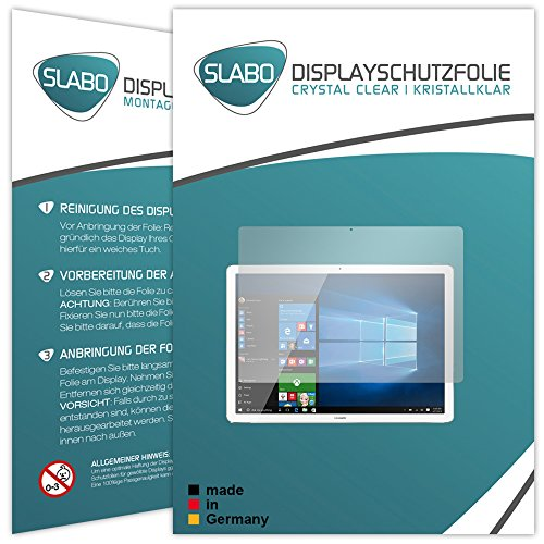 Slabo 2 x Displayschutzfolie Huawei MateBook Displayschutz Schutzfolie Folie Crystal Clear unsichtbar Made IN Germany - 2