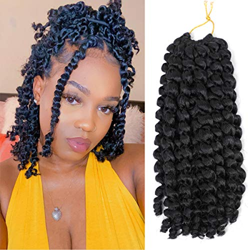 12 inch Short Passion Twist Crochet Hair Water Wave Braiding Hair 7 Packs bob Twisted for Black Women Bohemian Twists