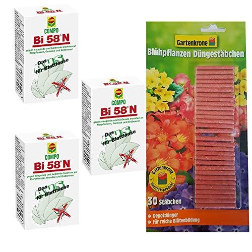 hagebauSPN 3 x 30 ml Bi 58N + 30er Düngestäbchen Gartenkrone