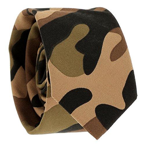 Cravate Militaire Camel - Cravate Camouflage Armée