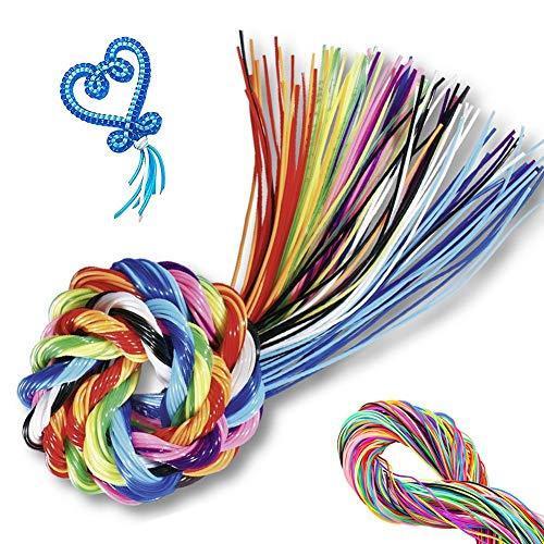 sinzau 200 Stück Scoubidou Saiten für Handarbeiten, Kunsthandwerk aus Kunststoff, 20 Farben