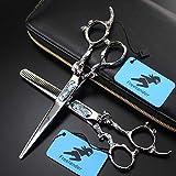 6 pouces en acier inoxydable 440C japonais haut de gamme coiffeur ciseaux de coiffure professionnels coiffeur outils spéciaux,A&B