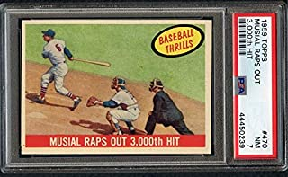 1959 Topps #470 Stan Musial IA Cardinals PSA 7 NM 372510 Kit Young Cards