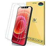 ANEWSIR Pellicola Protettiva Compatibile per iPhone 12 PRO/iPhone 12 (6.1'') Vetro Temperato, [2 Pezzi] Anti Graffo/Olio/Impronta, HD Chiaro Pellicola Vetro Temperato per iPhone 12/12 PRO