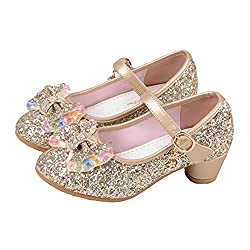 Princess Cosplay Sequin Low Heeled Gold Shoe