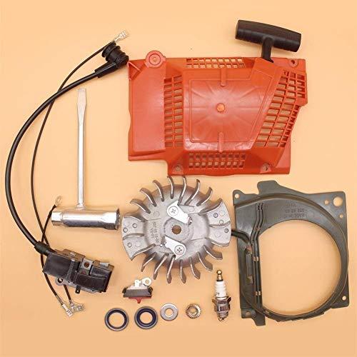 HaoYueDa Bobina de Encendido del Volante de Retroceso Llave de Arranque Kit de Herramientas de repotenciación Compatible con Husqvarna 365371372362 Repuestos de Motosierra de Gasolina