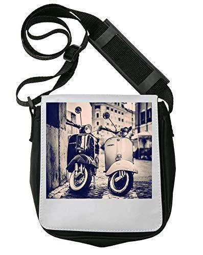 Vintage Vespa 2 Retro Scooters Schultertasche Herren Umhängetaschen Damen Taschen Unisex Shoulder Bag