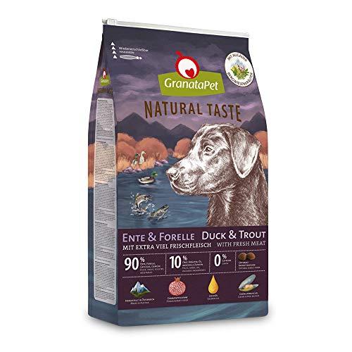 GranataPet Natural Taste Ente & Forelle, Trockenfutter für Hunde, Hundefutter ohne Getreide & ohne Zuckerzusätze, Alleinfuttermittel für ausgewachsene Hunde, 4 kg