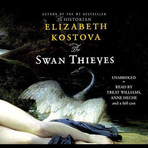 The Swan Thieves                   By:                                                                                                                                 Elizabeth Kostova                               Narrated by:                                                                                                                                 Treat Williams,                                                                                        Anne Heche,                                                                                        Erin Cottrell,                   and others                 Length: 17 hrs and 56 mins     992 ratings     Overall 3.7