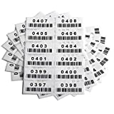Pre-Printed Consecutively Numbered Labels Sticker with Bar Code 2' x 1' (001-480)