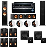 Dolby Atmos 7.2.4 Klipsch RP-280F Tower Speakers SW-112 with Onkyo TX-NR1030