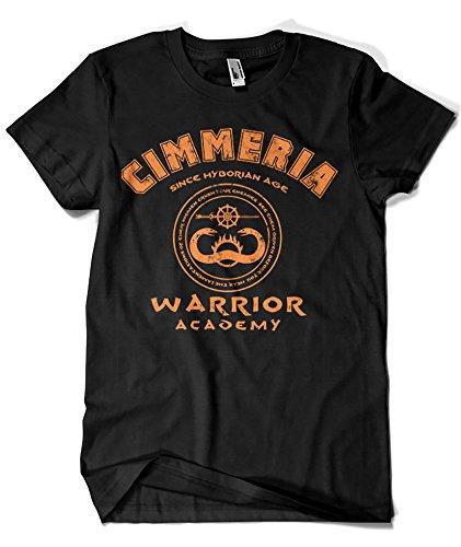 Camisetas La Colmena 1338-Camiseta Conan - Warrior Academy (Karlangas) (XXL, Negro)