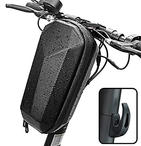 SHAIFER Bolsa para Patinete Electrico Impermeable con Gancho de Garra Frontal-Bolsa Frontal para Scooter de Gran Capacidad 4L Diseño Moderno y Elegante-Accesorios para Patinete Electrico, Bicicletas