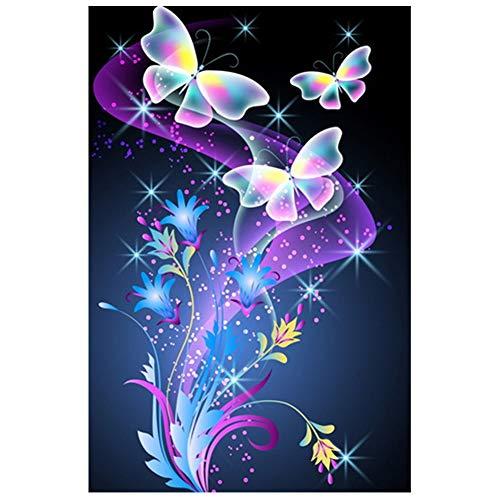 SuperCS New 5D Diamond Painting Set 3040cm Painting Butterfly Sticker Diamond Cross Stitch DIY Diamond Decorative Painting