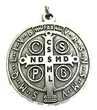GTBITALY 60.050.30 medalla de San Benito plata medida 48 mm con anillo de exorcismo sonora iglesia sacerdote santo