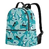 Ocean Blue Shark Mochila para mujer, adolescente y niña, bolso de moda, bolsa de libros, niños, viajes, universidad, casual, para niños preescolares, regreso a casa, suministros mini