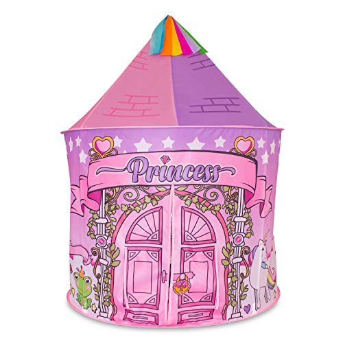 La Rana Catalina Princess Castle Play Tent - Unicorn Toys for Toddler and Kids - Indoor and Outdoor Games for Girls and Boys - Best Birthday Gifts for Children - Portable Playhouse, Teepee and Houses