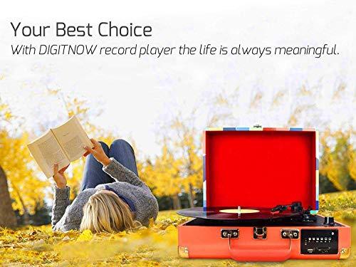 DIGITNOW! Tocadiscos Bluetooth Plato giradiscos Plato Vinilo- Función...