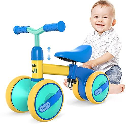 Gonex Bicicleta sin Pedales, Bici Bebe para Niños de 1 Año, Bicicleta Equilibrio de Altura Ajustable, Triciclos Bebes Correpasillos para Niños y Niñas 1 Año Regalo Juguetes