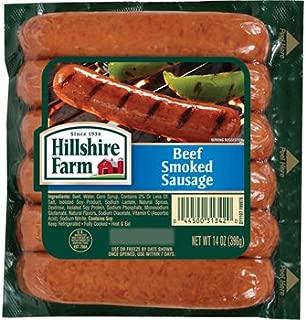 HILLSHIRE FARM BEEF SAUSAGE SMOKED LINKS 14 OZ PACK OF 3