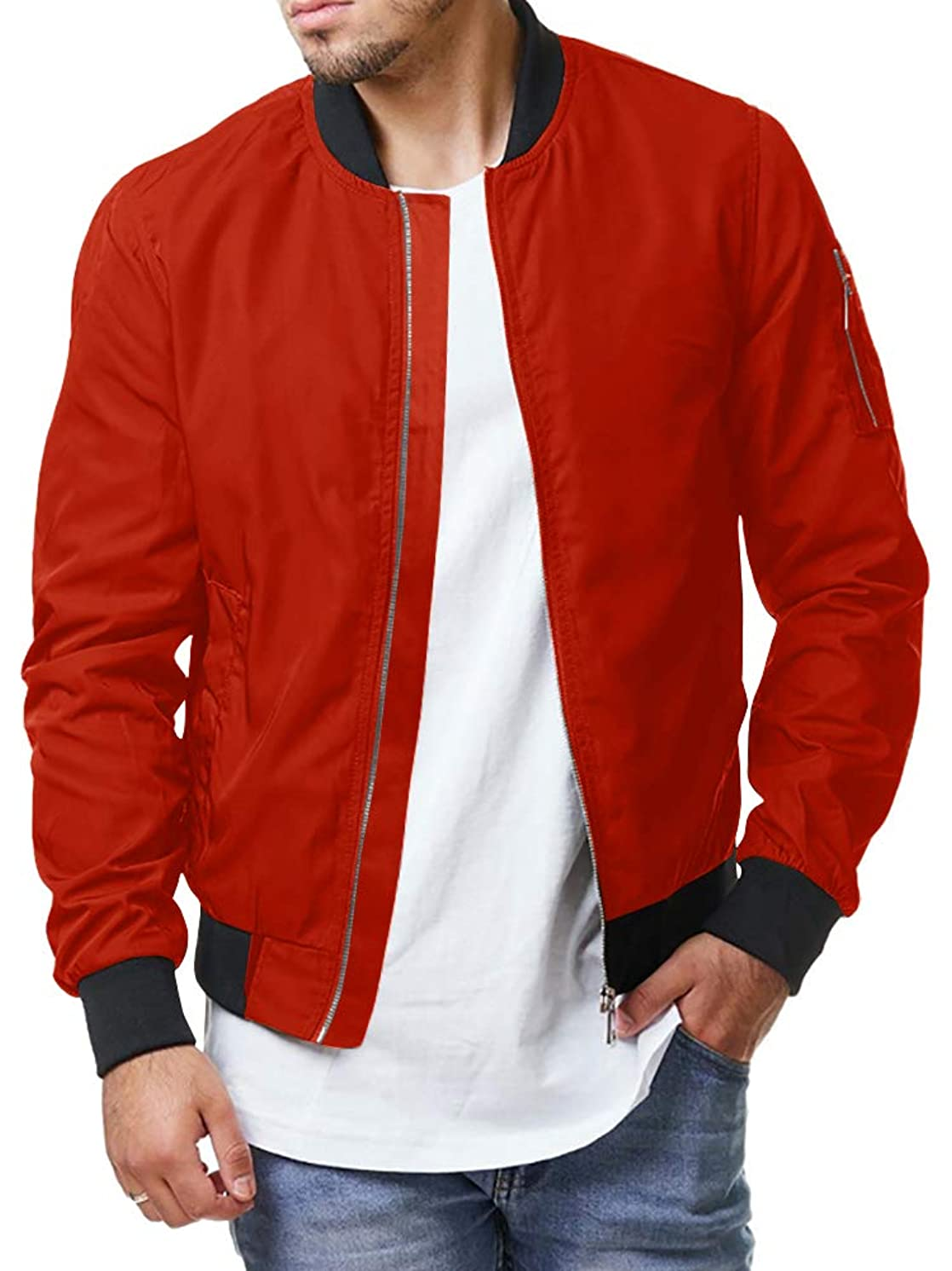 Pengfei Mens Jackets Bomber Varsity Diamond Quilted Spring Coats Outwear