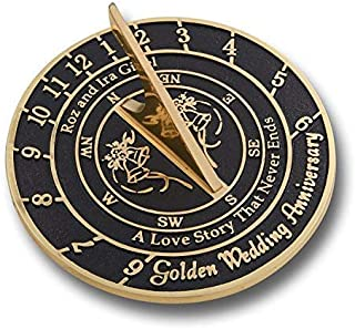 Unique Wedding Gift Idea for A Special Couple. A Personalized Sundial Makes A Great Marriage Present for The Bride and Grooms Garden Or Home Décor Ornament. by The Metal Foundry UK