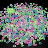 Rolybag Bicycle Wheel Spokes Bead 200 Pcs Luminous Colorful Bicycle Wheel Spokes Bead Assorted Colors Bike Wheel Beads Plastic Clip Bead Spoke Decoration(2 Styles