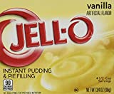 Jell-O Vanilla Instant Pudding & Pie Filling, 3.4 ounce (96g) (3 Packs)