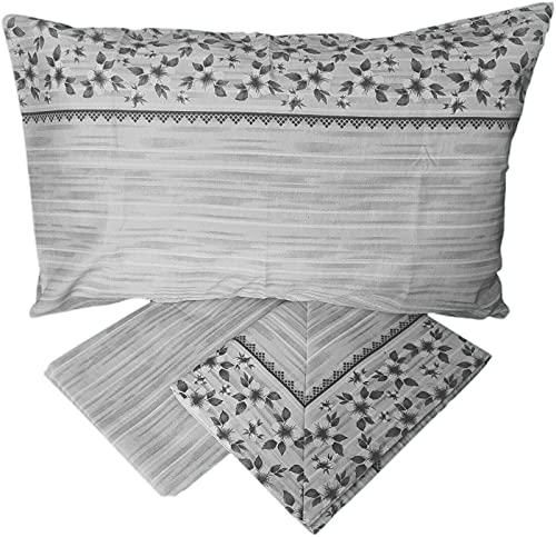 Completo letto cotone matrimoniale lenzuola fantasie shabby sotto sopra 2 federe serie LG (Matrimoniale, LG-2)