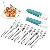 10 piezas de tenedor de fruta de acero inoxidable 304