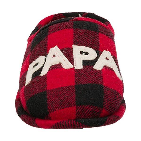 Dearfoams Men's Papa Bear Buffalo Plaid Clog Slipper