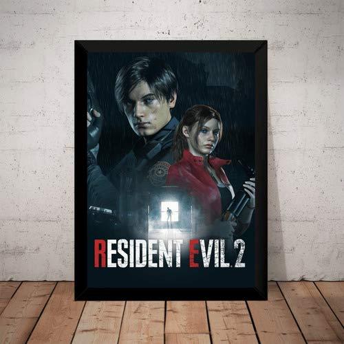 Quadro Resident Evil 2 Remake Poster Moldurado