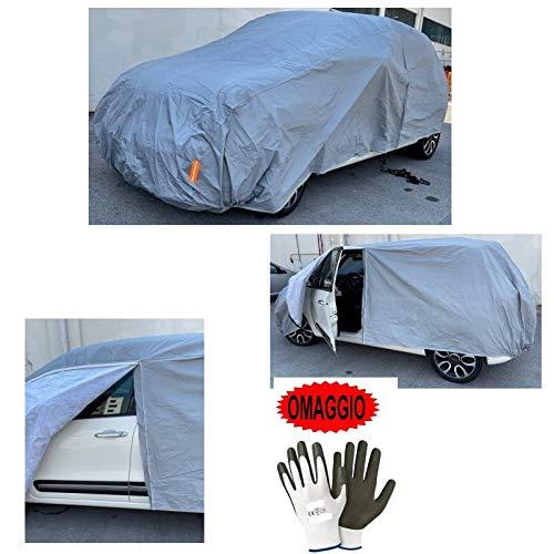 Compatible con CADILLAC XT5 3.6L V6 AWD AT Premium Funda cubre coche anti-lluvia con cremallera lateral funda con interior afelpado cobertura verano invierno talla XL 533 x 196 x 120 cm