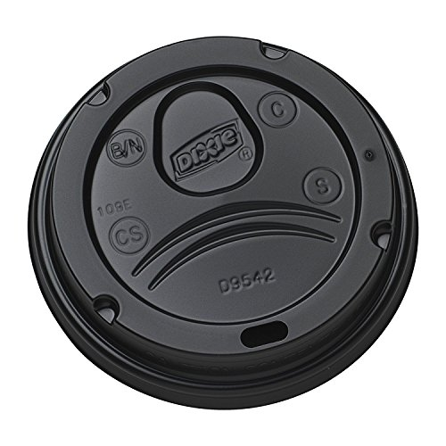 Dixie D9542B Dome Lid for 10-16 Ounce Perfect Touch Cups and 12-20 Ounce Dixie Paper Hot Cups. Black. Pack of 50
