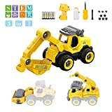 Take Apart Remote Dump Truck - Assembly Toy Bulldozer Constructions Truck Building Vehicles DIY Set with...