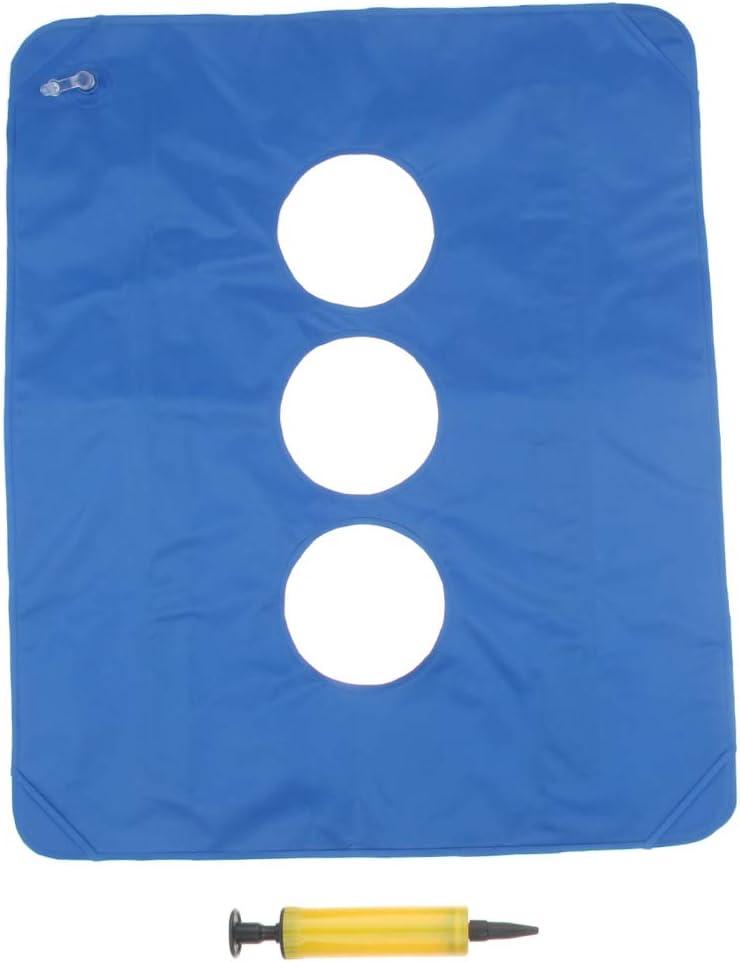#N A Inflatable Cushion Seat Wheelchair Air Pump Max 64% OFF Superlatite - W Blue Coccyx