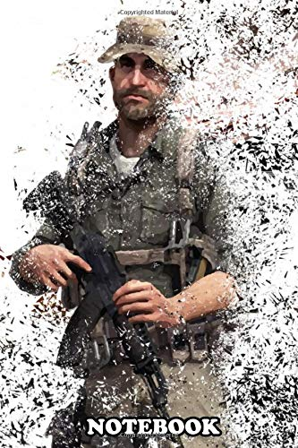 """Notebook: Captain Price , Journal for Writing, College Ruled Size 6"""" x 9"""", 110 Pages"""