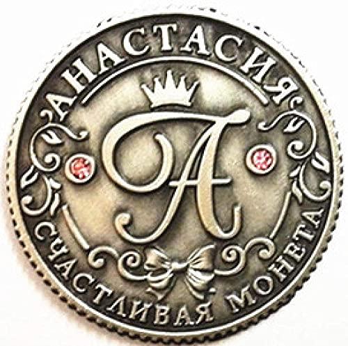 Moneda Nombre Juego de Monedas Retro Decorado Hogar Precioso pasatiempo y artesanía Fútbol Moneda Conmemorativa # 8103