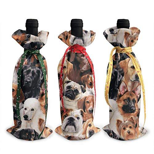 Weinflaschen-Abdeckung für Hunde, Schwarz, 3 Stück