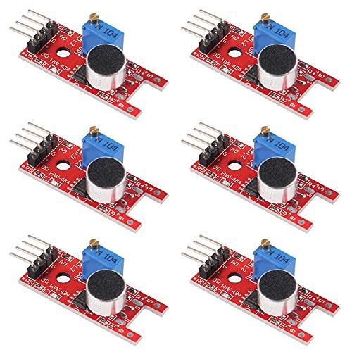 ACEIRMC 6pcs KY-037 4pin Voice Sound Detection Sensor Module Microphone Transmitter Smart Robot Car for arduino DIY Kit