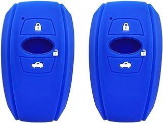 BAR Autotech 🌠 Silicone Keycover Remote Fob Case Shell Protector 3 Buttons for Subaru WRX BRZ Trezia Levorg Imprez...
