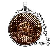 Collar antiguo con altavoz de radio, adornos de cristal cúpula, regalos para ella, hermosos collares