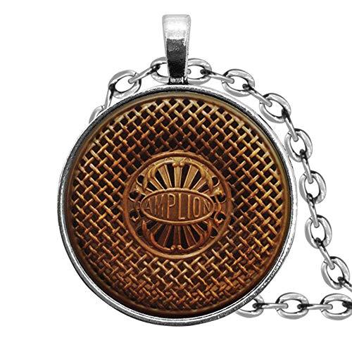 Collar antiguo con altavoz de radio, adornos de cristal cúpula, regalos para...